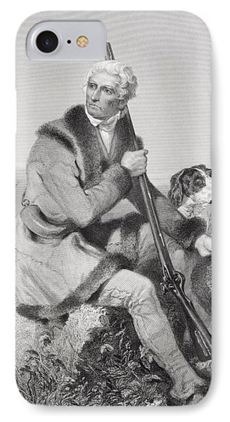 Daniel Boone 1734-1820. American IPhone Case by Vintage Design Pics