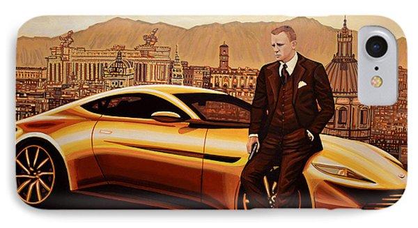 Daniel Craig As James Bond IPhone Case by Paul Meijering