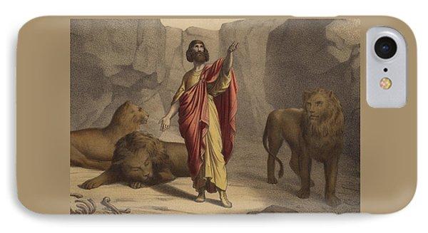 Daniel In The Lion's Den IPhone Case by Jean-Baptiste Auguste Leloir