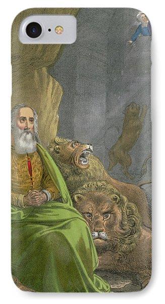 Daniel In The Lions' Den IPhone Case by Siegfried Detler Bendixen