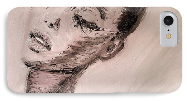 IPhone Case featuring the painting Dante's Prayer by Jarmo Korhonen aka Jarko