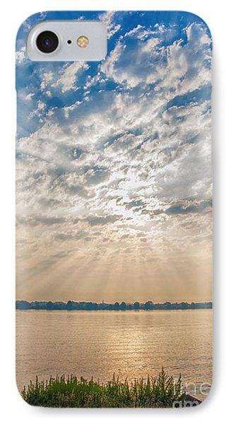 IPhone Case featuring the mixed media Dappled Dawn by Terry Rowe