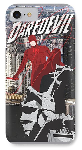 Daredevil IPhone Case by Troy Arthur Graphics
