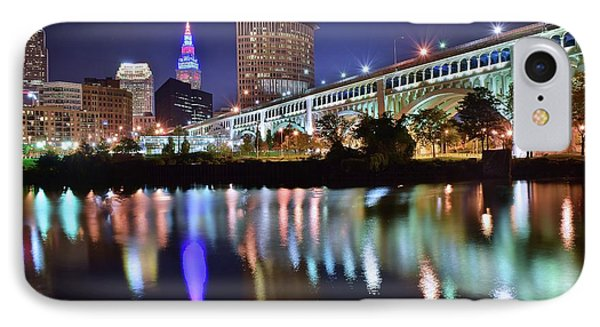 Dark Blue Night In Cle IPhone Case by Frozen in Time Fine Art Photography