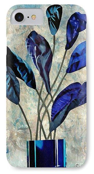 Dark Blue Phone Case by Sarah Loft