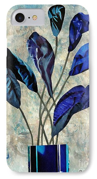 Dark Blue IPhone Case by Sarah Loft