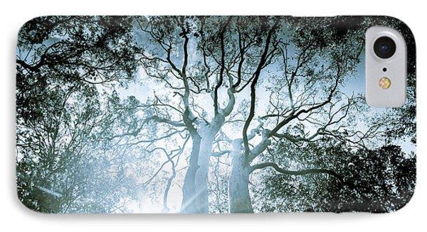 Dark Blue Spooky Trees IPhone Case by Jorgo Photography - Wall Art Gallery