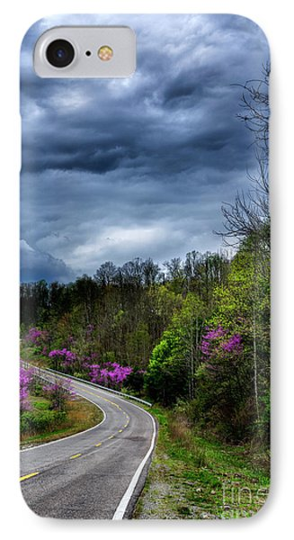 IPhone Case featuring the photograph Dark Clouds Over Redbud Highway by Thomas R Fletcher