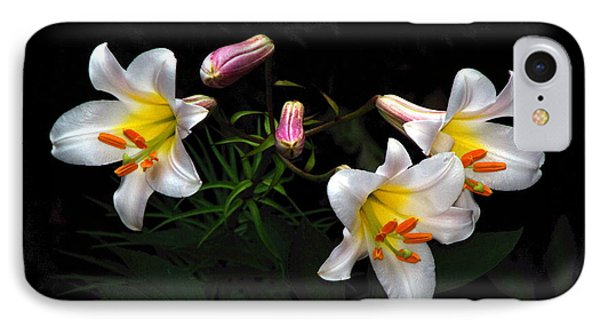 IPhone Case featuring the photograph Dark Day Bright Lilies by Byron Varvarigos