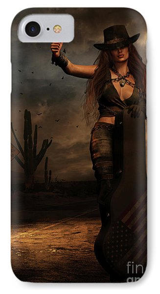 IPhone Case featuring the digital art Dark Desert Highway by Shanina Conway