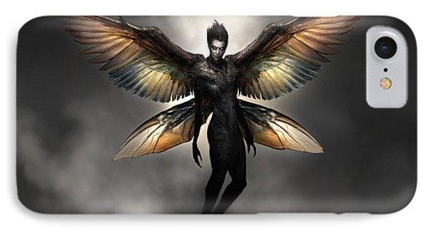 Dark Fairy IPhone Case by Alex Ruiz