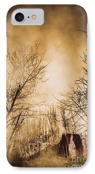 Dark Forest Hut IPhone Case