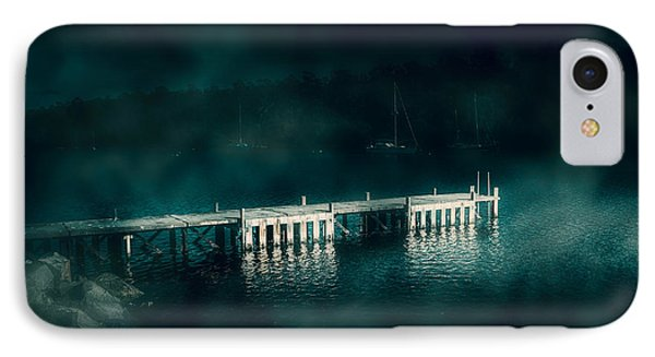 Dark Haunting Wooden Pier IPhone Case by Jorgo Photography - Wall Art Gallery