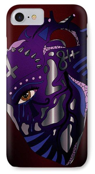Dark Heart IPhone Case by Kenal Louis