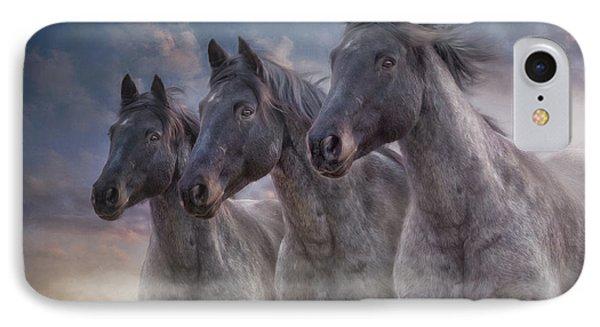 Dark Horses IPhone Case by Debby Herold