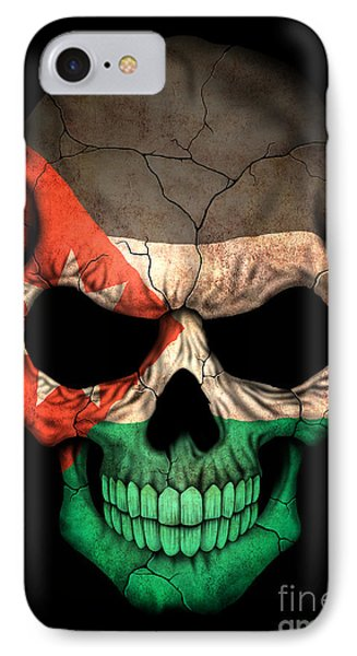 Dark Jordanian Flag Skull IPhone Case by Jeff Bartelns