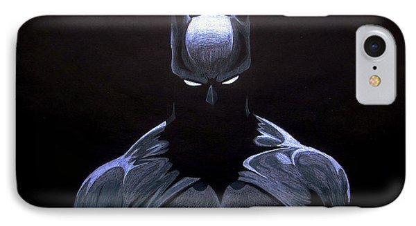 Ben Affleck iPhone 7 Case - Dark Knight by Marcus Quinn