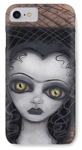 Dark Lily IPhone Case by Abril Andrade Griffith
