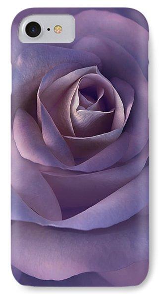 Dark Plum Rose Flower Phone Case by Jennie Marie Schell