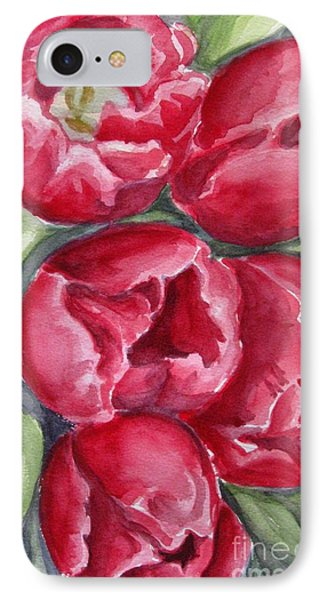 IPhone Case featuring the painting Dark Red by Inese Poga