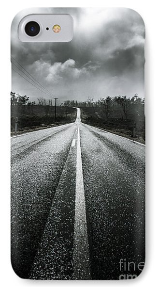 Dark Stormy Road To Cradle Mountain In Tasmania IPhone Case