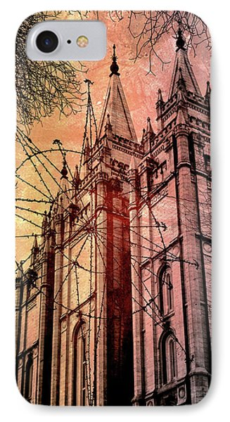 Dark Temple IPhone Case by Jim Hill