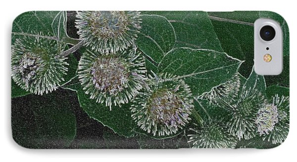IPhone Case featuring the photograph Dark Thistles by Kathie Chicoine