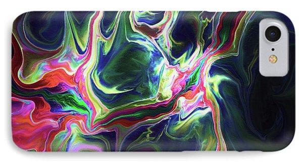 IPhone Case featuring the digital art Dark To Light by Deborah Benoit