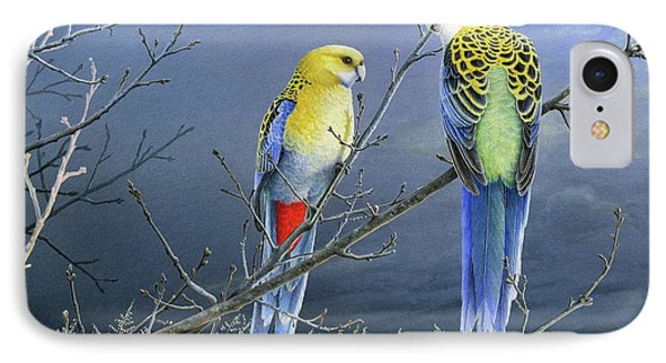 Darkness Before The Deluge - Pale-headed Rosellas IPhone Case