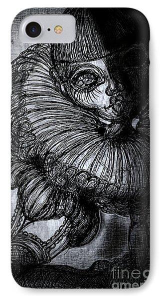 Darkness Clown IPhone Case by Akiko Okabe