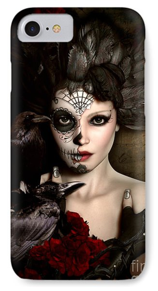 Darkside Sugar Doll IPhone Case by Shanina Conway