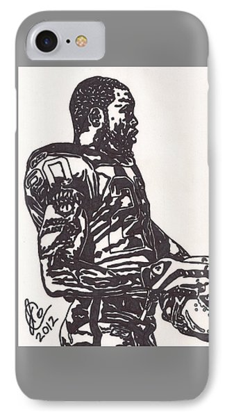 IPhone Case featuring the drawing Darren Mcfadden 1 by Jeremiah Colley