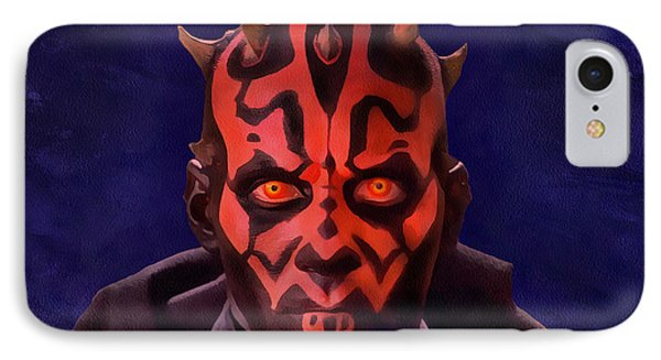 Darth Maul Dark Lord Of The Sith IPhone Case by Sergey Lukashin