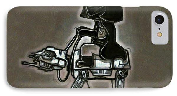 Darth Vader At Battle-horse - Da IPhone Case by Leonardo Digenio