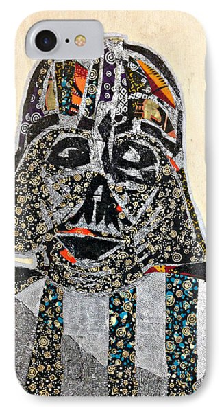 IPhone Case featuring the tapestry - textile Darth Vader Star Wars Afrofuturist Collection by Apanaki Temitayo M