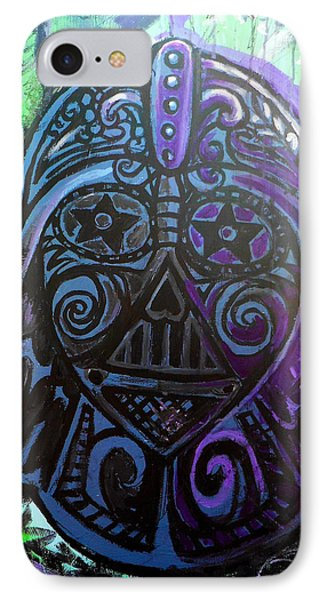 Darth Vader Sugar Skull IPhone Case by Genevieve Esson