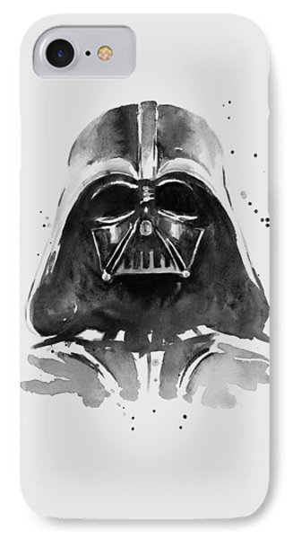 Darth Vader Watercolor IPhone 7 Case by Olga Shvartsur