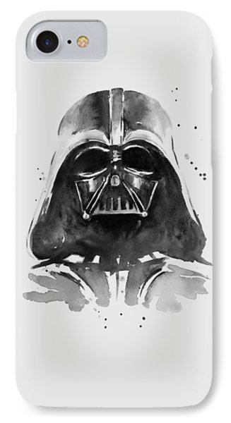Darth Vader Watercolor IPhone Case by Olga Shvartsur
