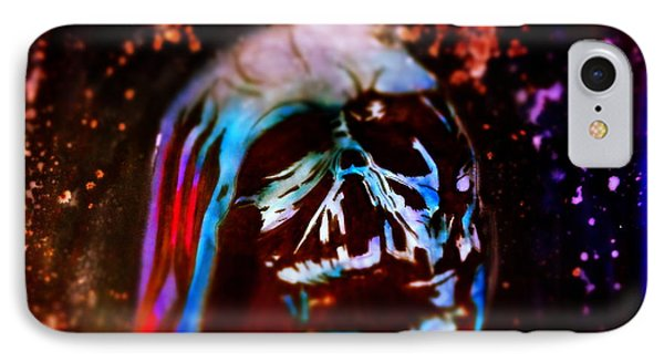 Darth Vader's Melted Helmet IPhone Case by Justin Moore