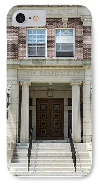 Dartmouth College Administration Building IPhone Case by Edward Fielding