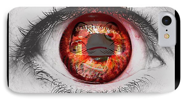 Daruma Eye IPhone Case by Pamela Larson