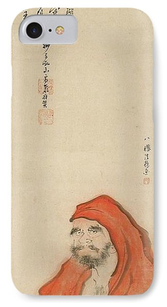 Daruma In A Red Robe IPhone Case by Celestial Images