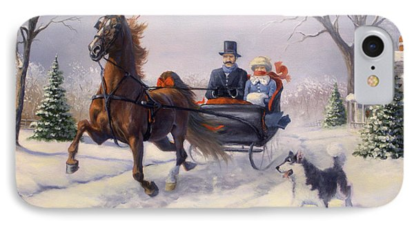 Dashing Through The Snow Phone Case by Jeanne Newton Schoborg