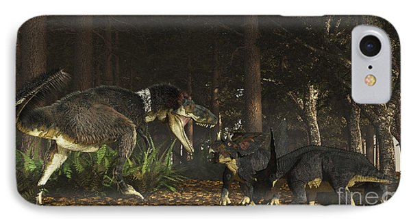 Daspletosaurus Confronts A Family IPhone Case