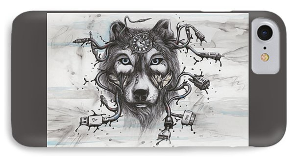 Data Wolf IPhone Case by Tai Taeoalii
