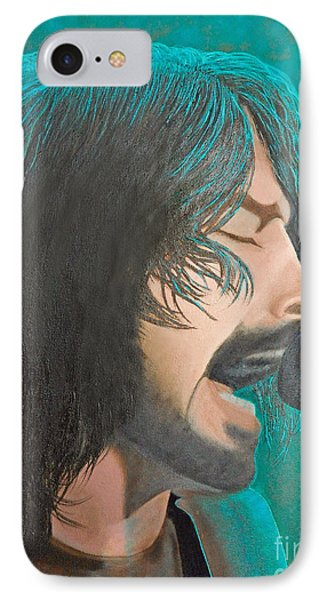 IPhone Case featuring the painting Dave Grohl Of The Foo Fighters by Cindy Lee Longhini