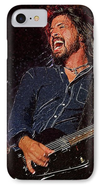Dave Grohl IPhone Case by Semih Yurdabak