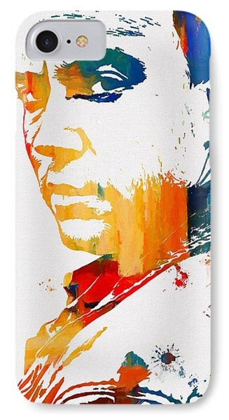 Dave Matthews Paint Splatter IPhone Case by Dan Sproul