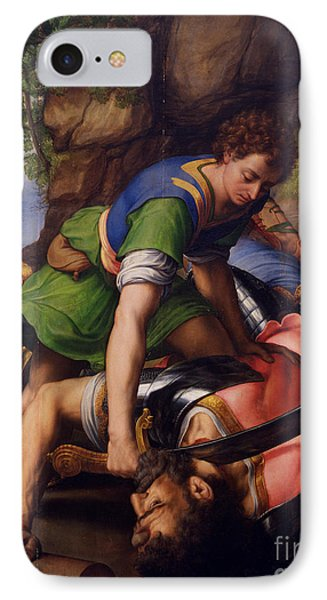 David And Goliath IPhone Case by MotionAge Designs