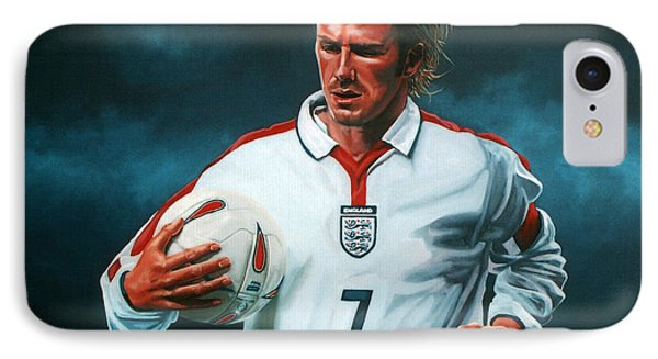 David Beckham IPhone Case by Paul Meijering